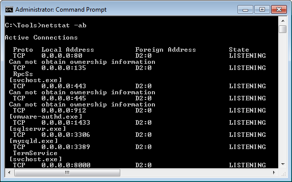 Windows Windows SysAdmin Tool Netstat