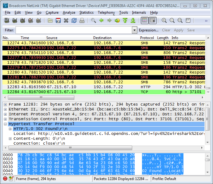 Wireshark View Network Packets