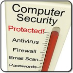 Computer Data Security Protected Meter Shows Laptop Internet Safety