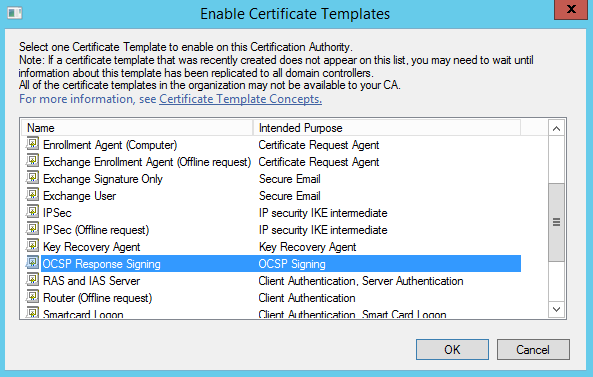 Deploying active directory certificate services and online responder ocsp response signing template yadclub Gallery