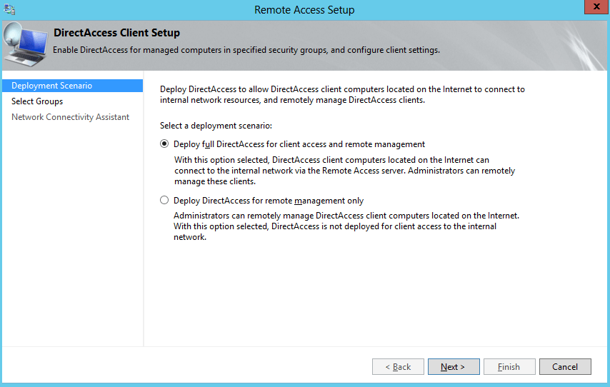 Deploy Full DirectAccess Installation