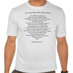 The Computer User's Lords Prayer Tshirt
