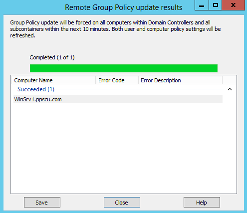 run machine policy remotely