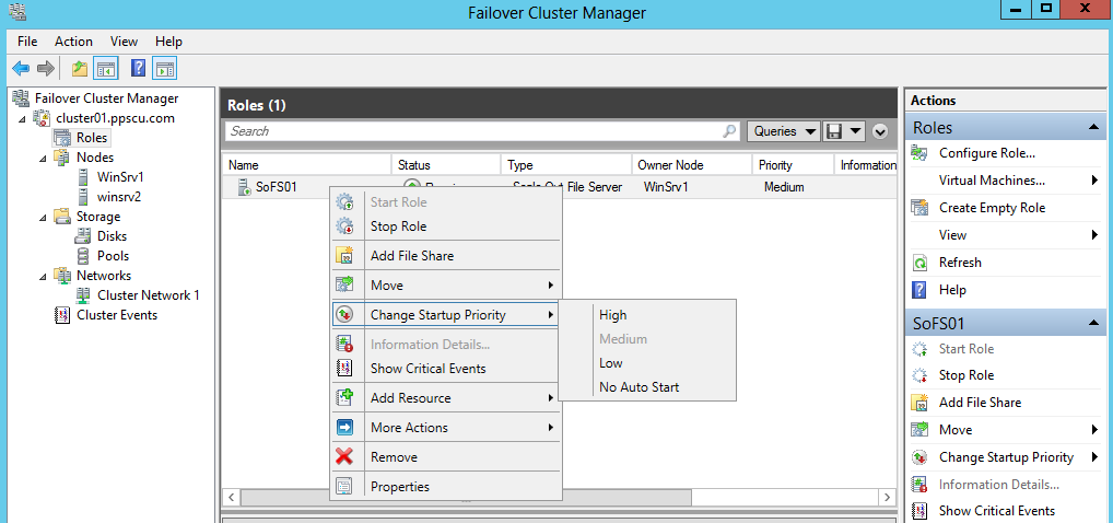 fail over cluster manager startup priority