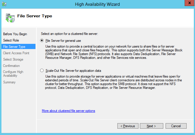 high availability wizard file server for general use