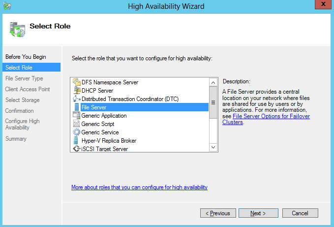 high availability wizard