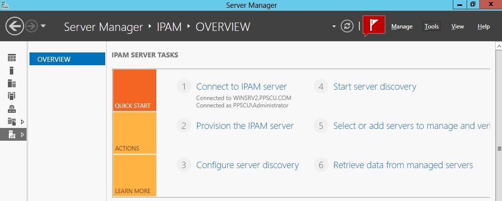 ipam server tasks