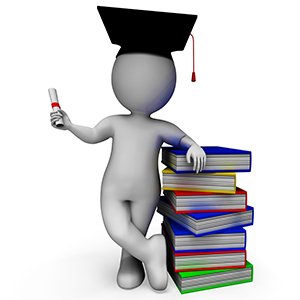Student With Diploma Shows Graduation Or Certificate