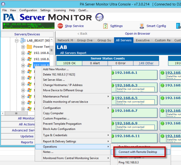 Almost Free Remote Support for PA Server Monitor | Network