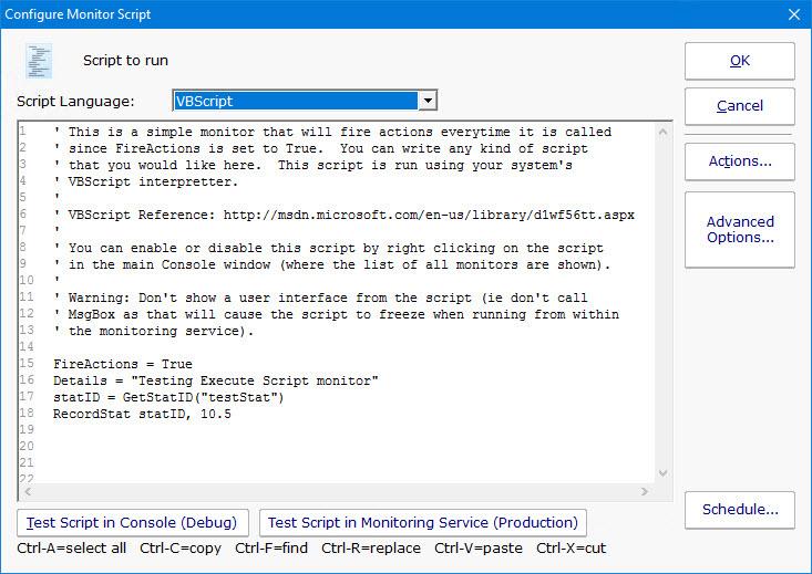 PA File Sight Documentation - Execute Script Monitor