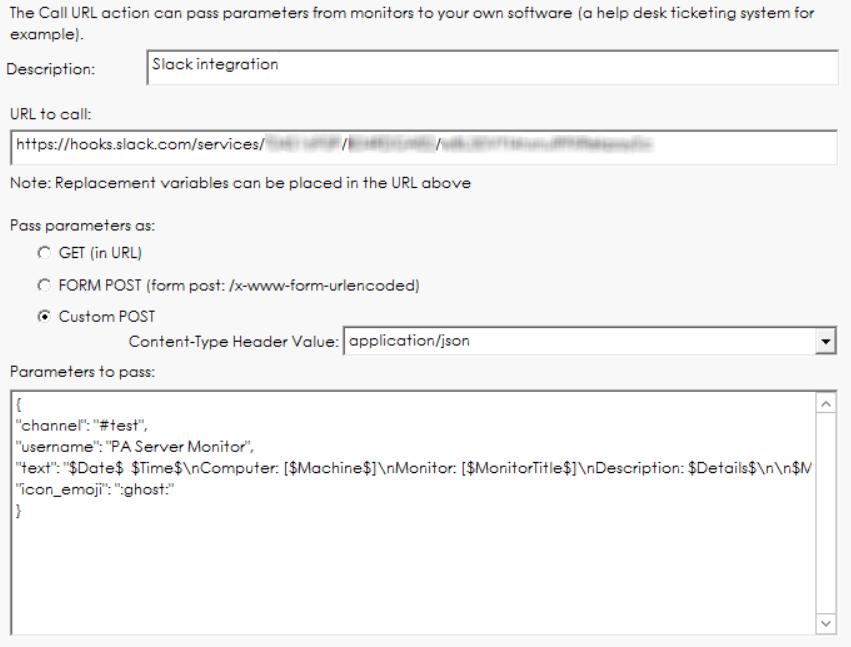 PA Server Monitor Documentation - Slack Integration