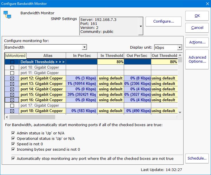 PA Server Monitor Documentation - Bandwidth Monitor