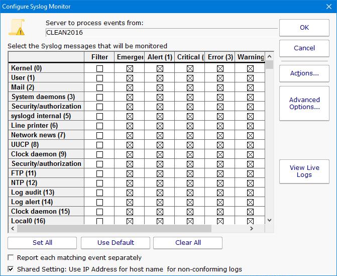 PA Server Monitor Documentation - Syslog Monitor