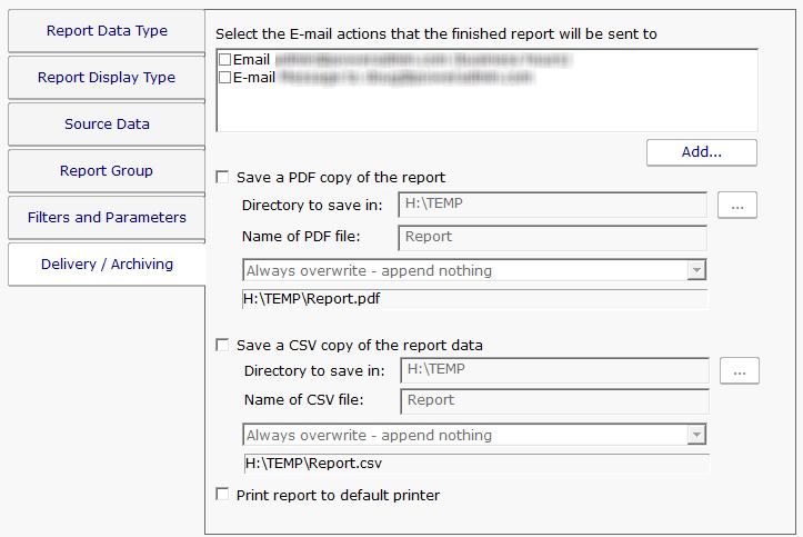 pa server monitor documentation standard report tabs