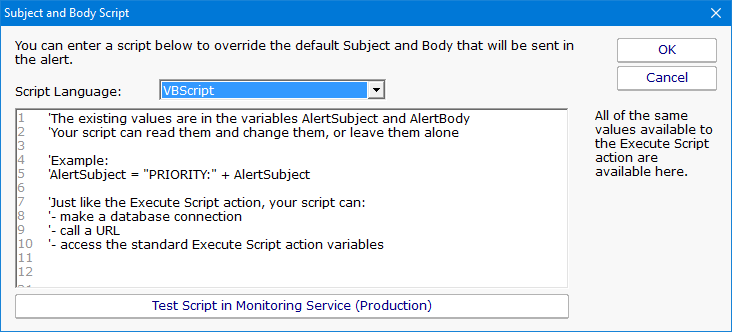 PA Server Monitor Documentation - E-Mail Message Action