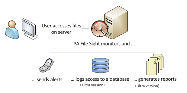 PA File Sight file monitoring diagram