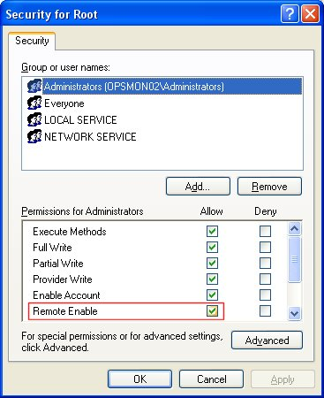 Enable WMI (Windows Management Instrumentation) for Remote