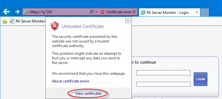 Installing Self-Signed Certs in IE